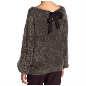 Fuzzy Crewneck Sweater